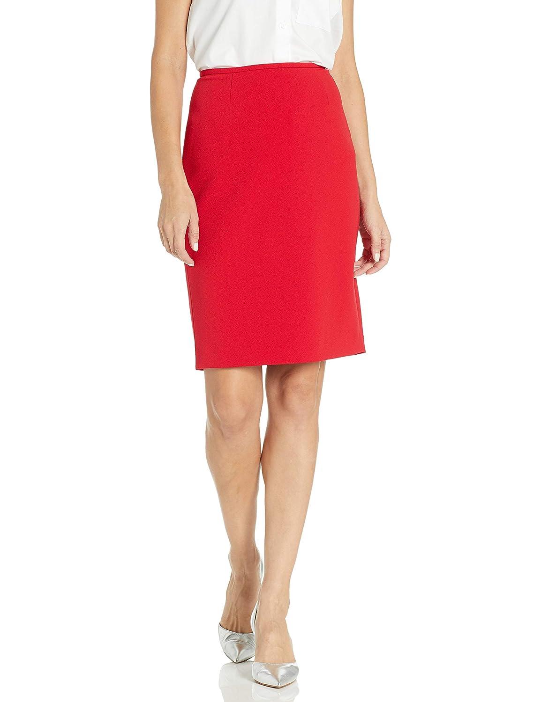 Calvin Klein Scuba Crepe Falda para Mujer - Rojo - 34: Amazon.es ...