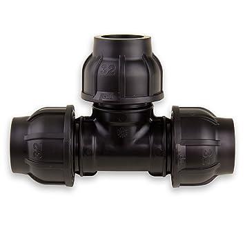PE-Rohr 90°-T-Stück 32 mm x 32 mm x 32 mm