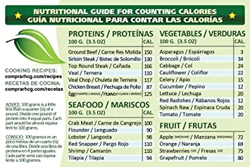 Dieta HCG | Calorie Counter | Nutritional Chart to Scale Your Caloric Intake (English /