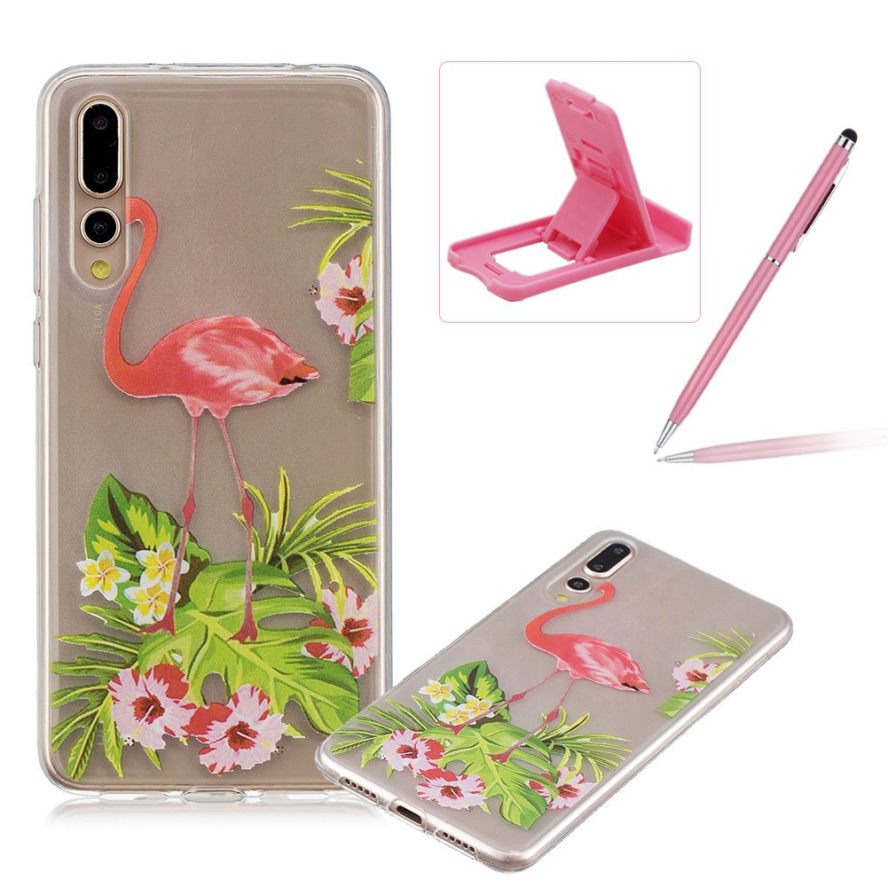 Rubber Case for Huawei P20 Pro, Herzzer Premium Stylish [Elegant Princess Printed] Scratch Resistant Ultra Thin Soft Gel Silicone Transparent Clear Crystal Slim Fit TPU Back Cover for Huawei P20 Pro