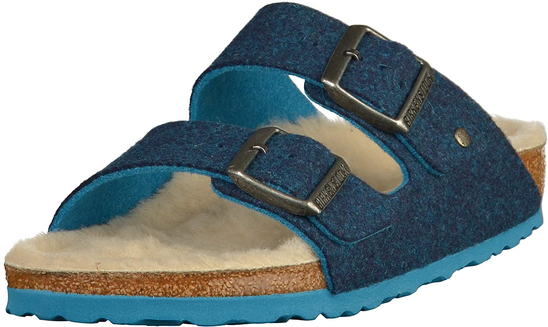 00b7548c5 Amazon.com | Birkenstock | Women Arizona Felt Sandal | Doubleface Blue 37 M  EU | Shoes