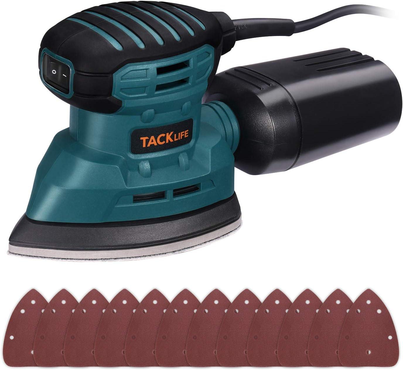 TACKLIFE Lijadora Eléctrica, 12000RPM 130W con Recogida de Polvo, Conectada a Aspiradora de 35mm, Interruptor a Prueba de Polvo, 12 Lijas - PMS01AS: Amazon.es: Bricolaje y herramientas