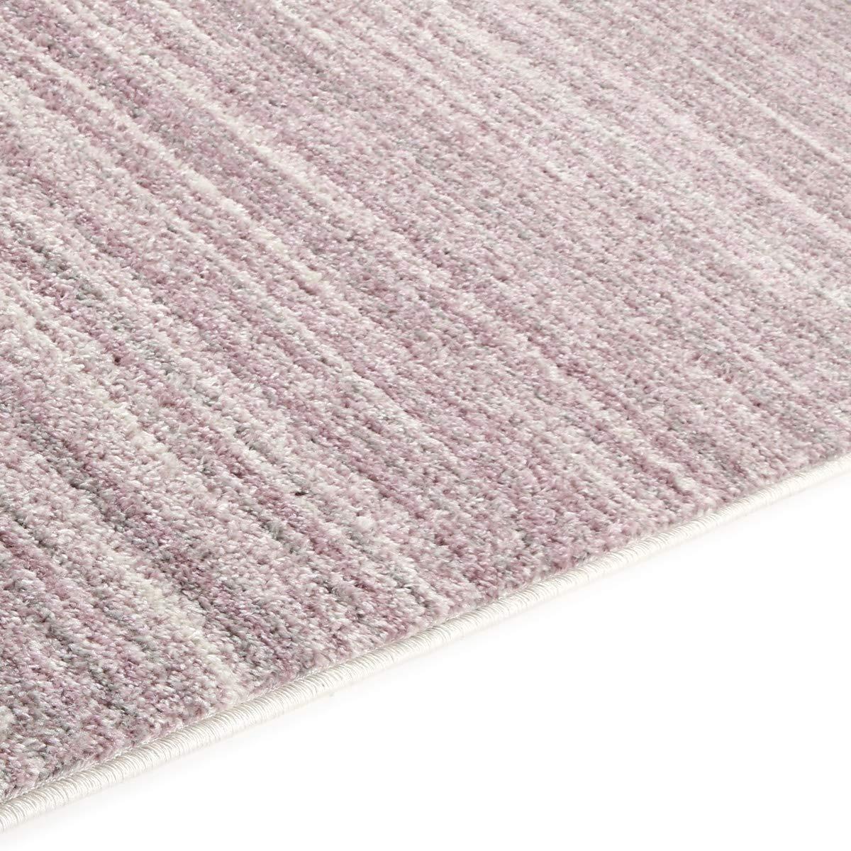 Havatex Moderner Teppich Blaush Streifen - - - Top Trend stylishes Design in Rosa & Creme   weicher Flor & leicht zu reinigen   modern fein gestreift, Farbe Rosa, Größe 160 x 230 cm B07MMMW45S Teppiche e0aa82