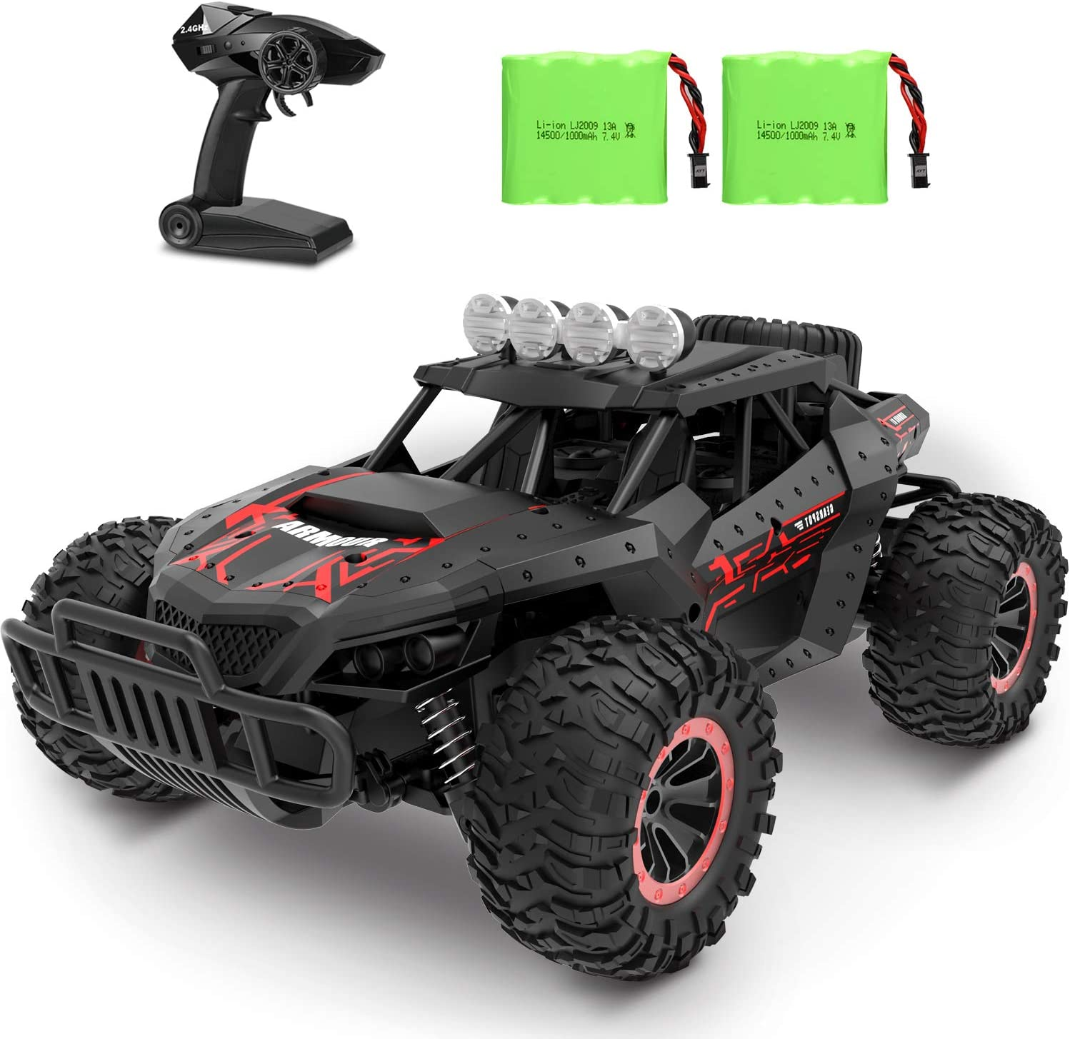 Amazon.com: RC Car 1:16 Scale Remote Control Car Off-Road RC Trucks 2.4 GHz  with 2 Rechargeable Batteries,Electric Toy Car for All Adults & Kids: Toys  & Games
