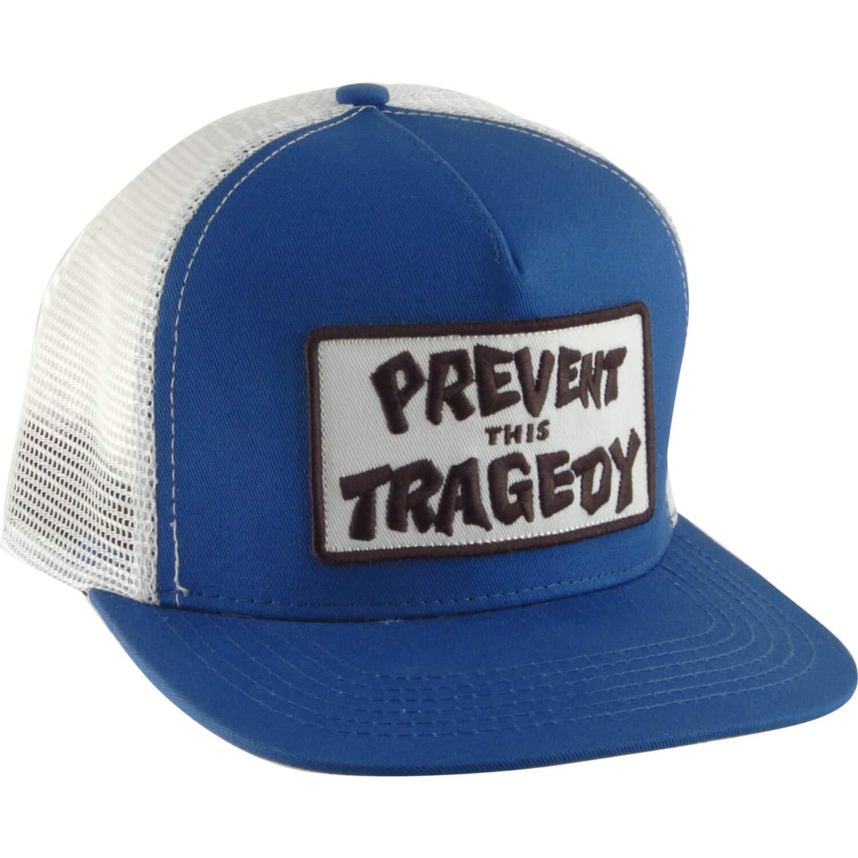 Thrasher Magazine evitar esta tragedia azul malla Trucker gorro ...