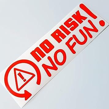Folien Zentrum No Risk No Fun Neon Rot Shocker Hand Auto Aufkleber Jdm Tuning Autoaufkleber Oem Dub Decal Stickerbomb Bombing Fun Roller Scooter Motorrad 258 Auto