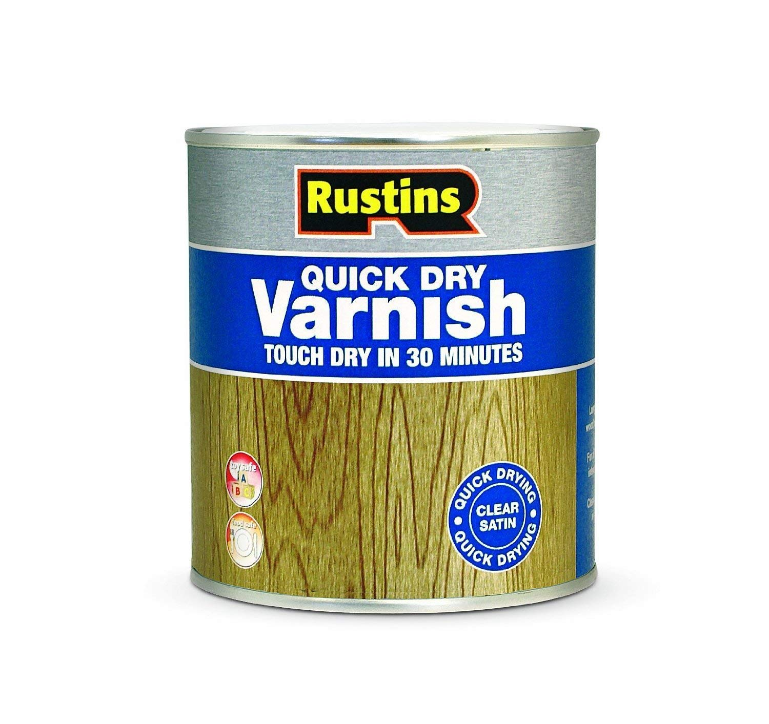 Rustins VSPI250 250 ml Quick Dry Varnish Satin - Pine
