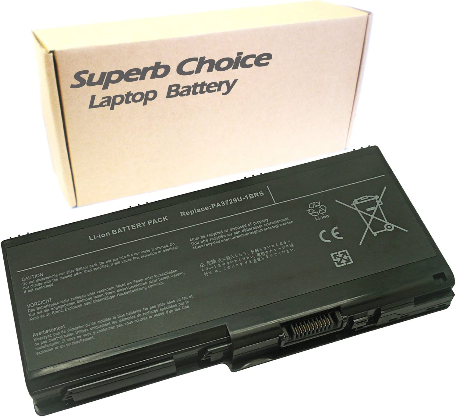 Superb Choice 9-Cell Battery Compatible with Toshiba Qosmio X505-Q894, 10.8V,6600mAh
