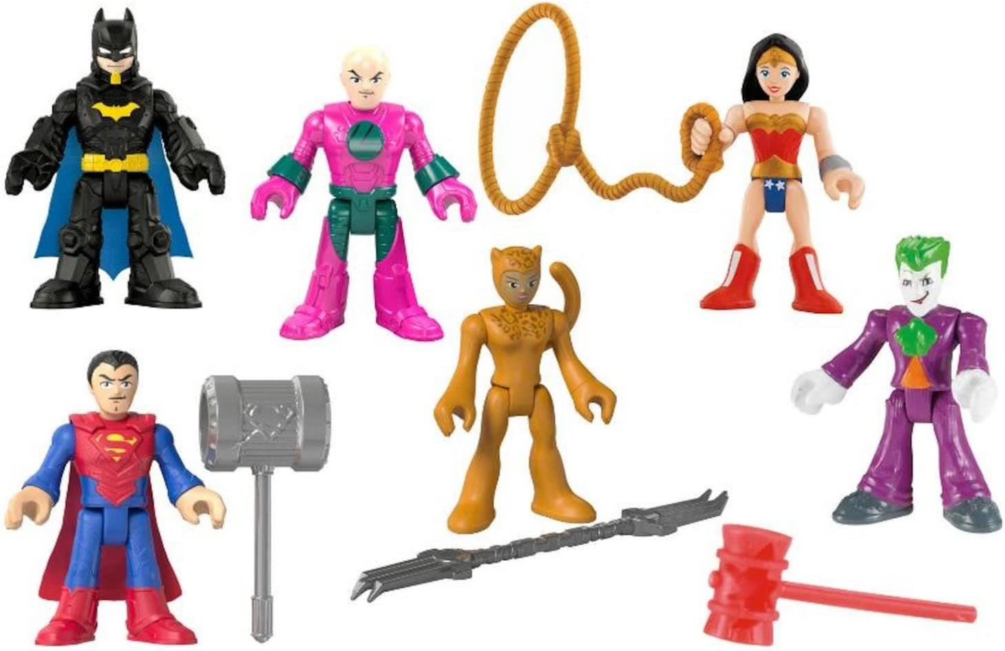 Lot 3 Imaginext DC Super Friends BAT GIRL BATMAN Fisher Price figure Comics Toys