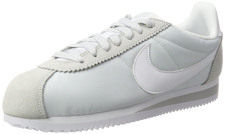 Nike Wmns Classic Cortez Nylon, Zapatillas de Running para Mujer 41 EU Blanco (Blanco (Pure Platinum/White))