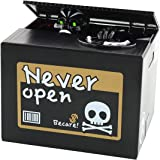 iPhyhe Piggy Bank Stealing Coin Change Bank Money Box with Skeleton Monkey Toy (Black)