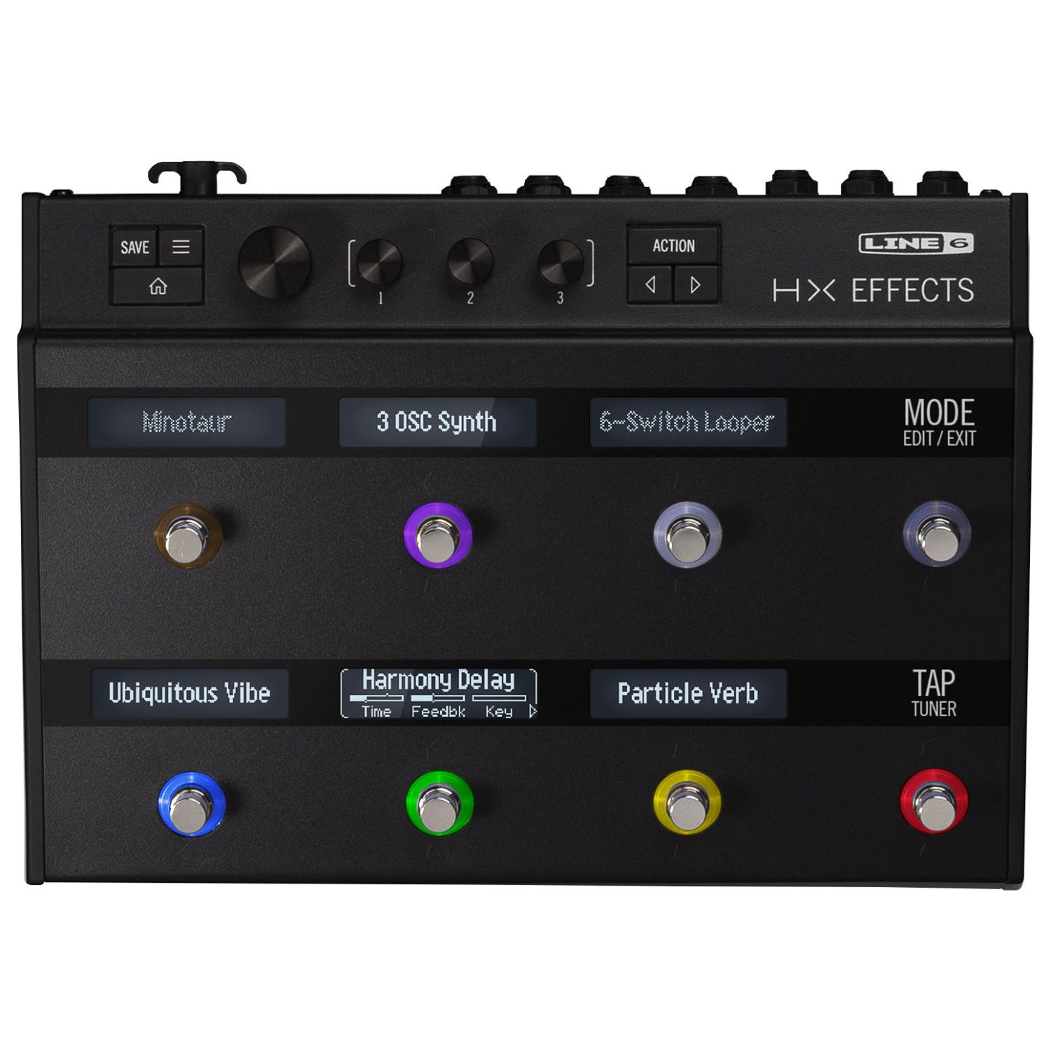 Line 6 99-040-3405 HX Effects Floor Multi FX Pedal w/ Power Adapter, USB Cable by Line 6