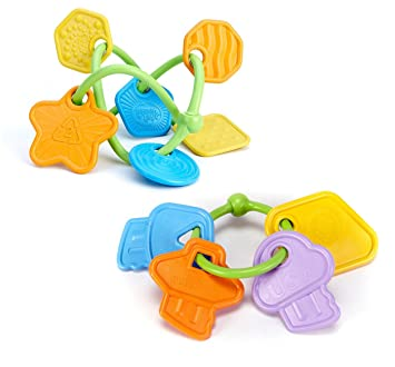 Amazon Com Green Toys Twist Teether First Keys Baby