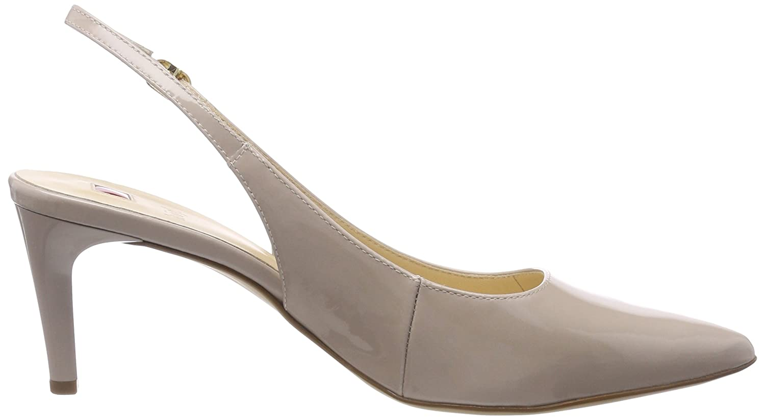 Womens 5-10 6805 0800 Sling Back Heels, Beige (Cotton) H?gl