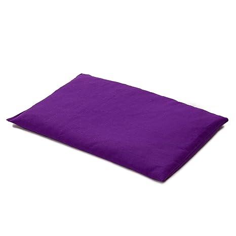 Almohada térmica de semillas 30x20cm violeta | Saco térmico para ...