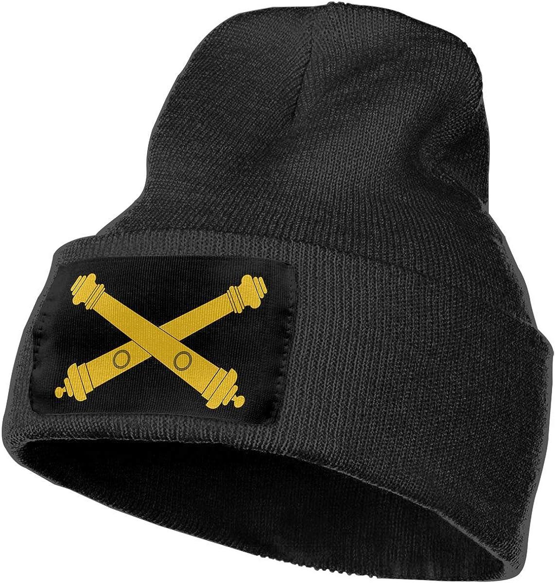 Mens/&Womens Army Field Artillery Logo Beanie Cap Thick,Soft,Warm Slouchy Knit Hat Winter Soft Ski Cap