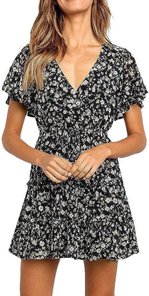 Donna Senza Maniche in Pizzo Boho Floral Mini Dress Ladies Summer Sundress Holiday 2019 Nuova Moda Affascinante E Confortevole A Basso Prezzo Sciolto Momoxi Vestito di Grandi Dimensioni