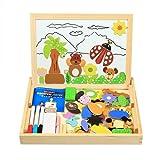 InnooBaby Puzzle di Legno Magnetico Lavagna Magnetica Lavagnetta Magnetica Puzzle Magnetici Giochi Educativi Giochi Creativi Costruzioni per Bambini