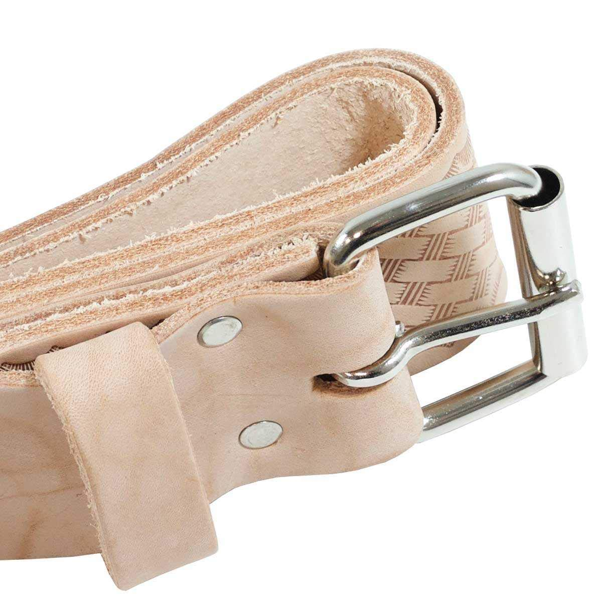 All-Wall 2'' Leather Work Belt - Ideal for Drywall and Construction Tool Pouches