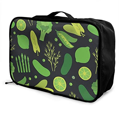 Amazon.com: Bolsa de viaje de frutas y verduras verdes para ...