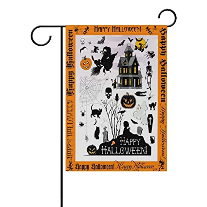 Amazon.com: Vioceff Halloween Town Garden Flag Home ...