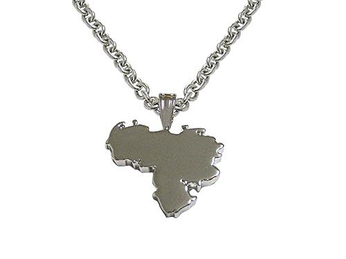 9a92955587da Venezuela Mapa forma colgante collar  Amazon.es  Joyería
