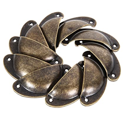 Antique Drawer Pulls - 10 Pieces Antique Shell Pull Handle Retro Metal  Kitchen Drawer Cabinet Door - Antique Drawer Pulls - 10 Pieces Antique Shell Pull Handle Retro