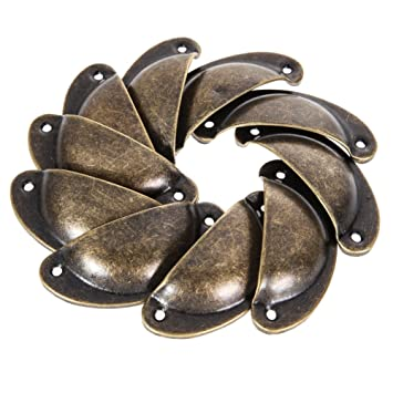 Antique Drawer Pulls   10 Pieces Antique Shell Pull Handle Retro Metal  Kitchen Drawer Cabinet Door