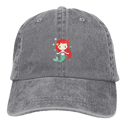 91acfea4de7 Cartoon Mermaid Girl Cute Unisex Adjustable Baseball Cap Dad Hat at ...