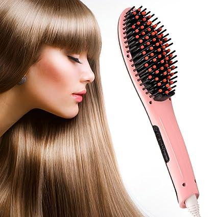 inkint eléctrica turmalina cerámica alisador de cabello Cepillo con LCD Masaje Comb profesional digital Mujer alisador
