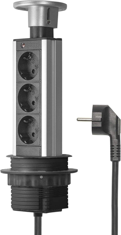 Elbe Socket para Mesa Empotrado, Multi-Socket con 3 enchufes ...