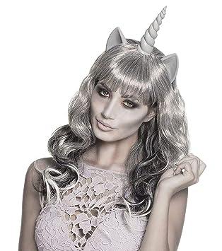 Boland 86199 Peluca Fantasma Unicornio, Gris