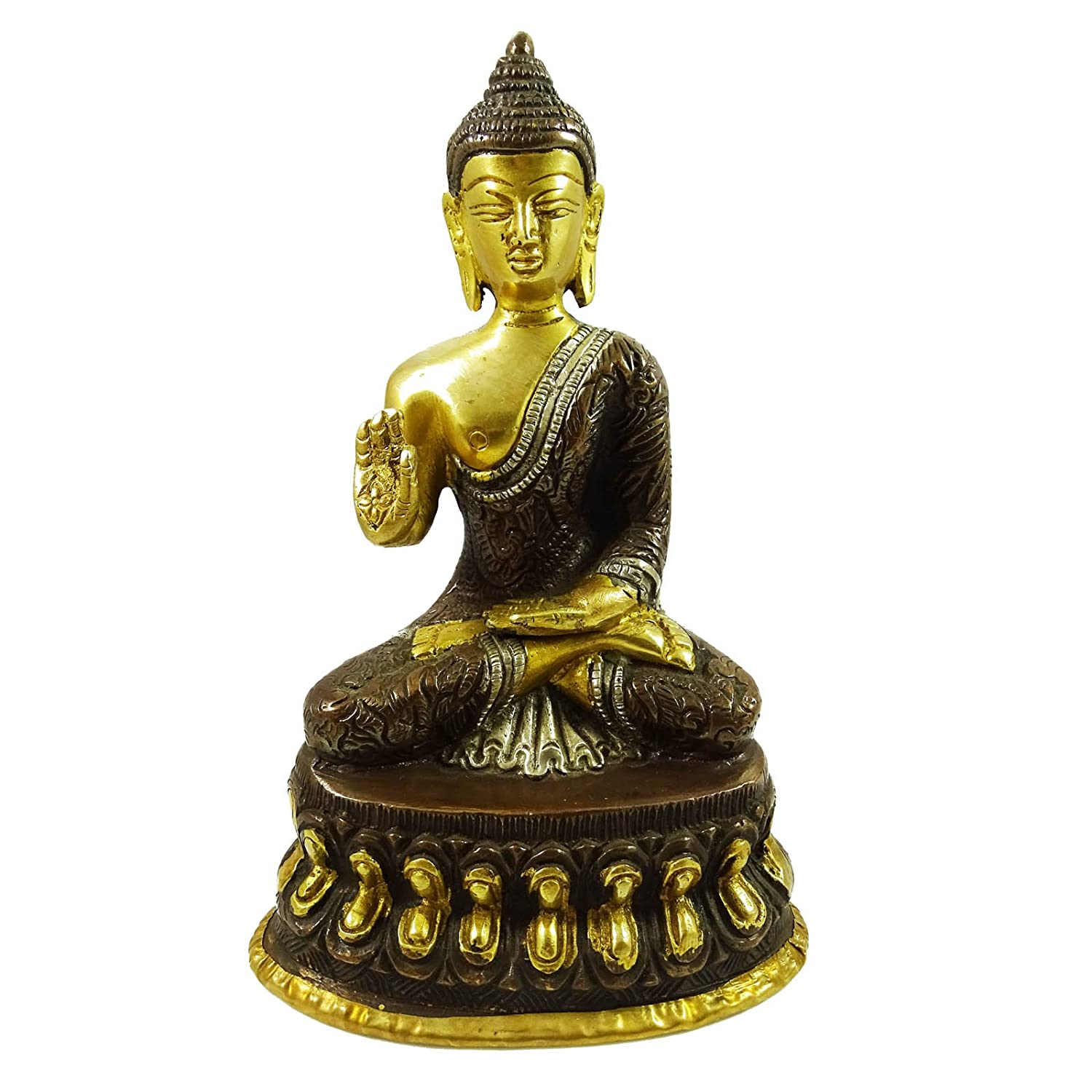 従来Buddha Statue Indian Collectable Sculptureホームインテリア置物ゴールドen