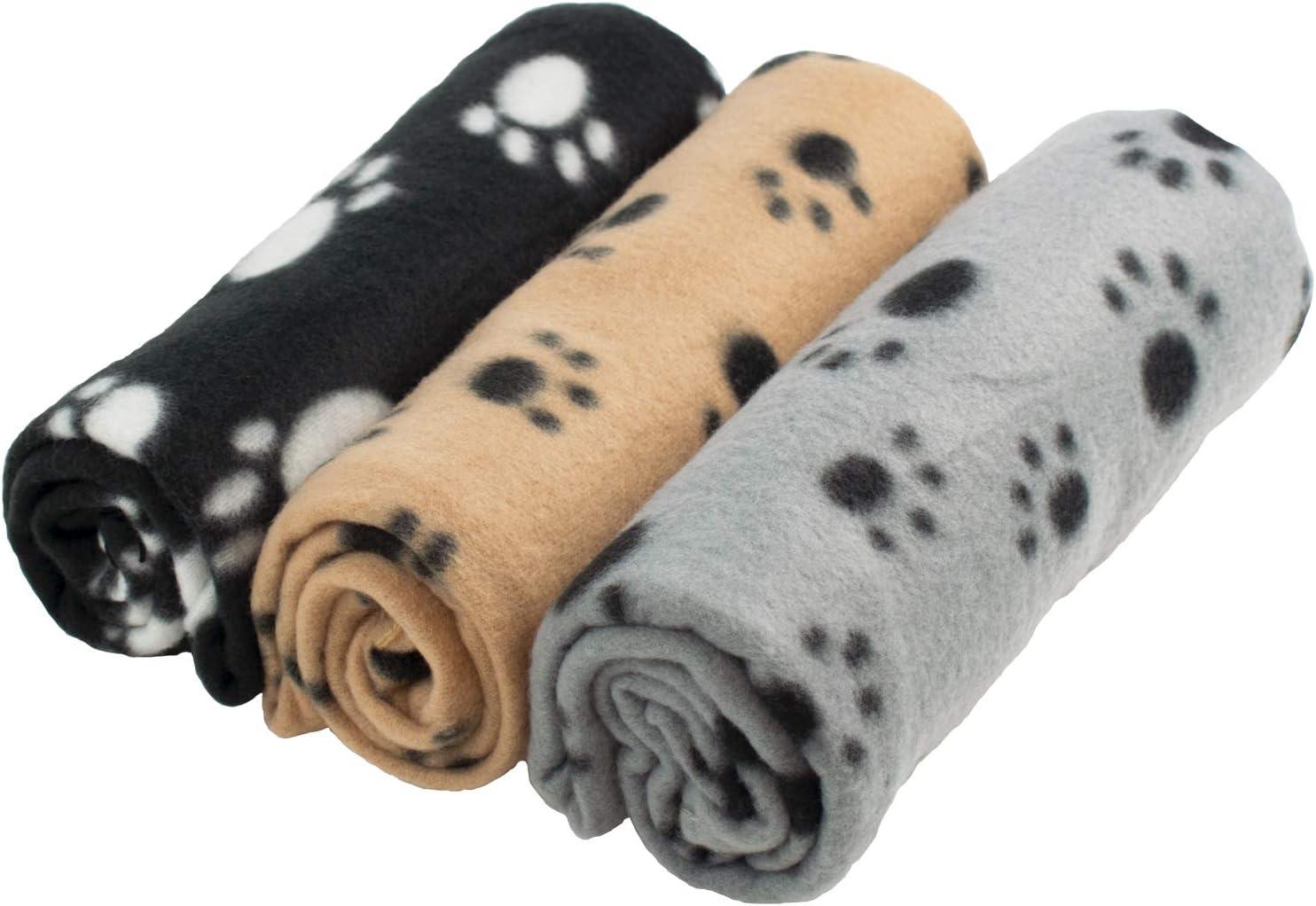 DIGIFLEX Grandes Mantas de Suave Felpa - Para Perros, Gatos, Conejos y Otras Mascotas - Una Buena Adición a la Cama de Su Animal - Mantas para Perros - Mantas de Gatos - 3 Unidades - 68cm x 92cm