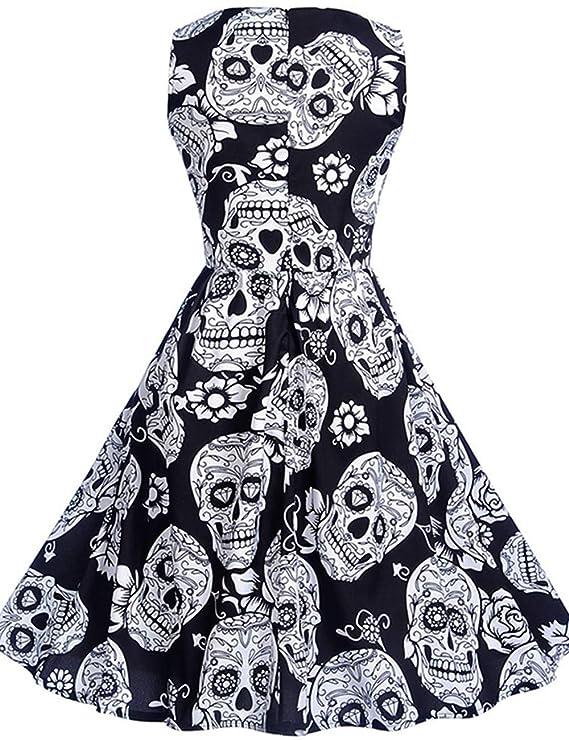 Amazon.com: Vestido de Halloween para mujer, sin mangas ...