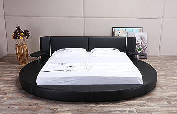 Amazon Com Oslo X Round Bed Queen Size Black Kitchen Dining