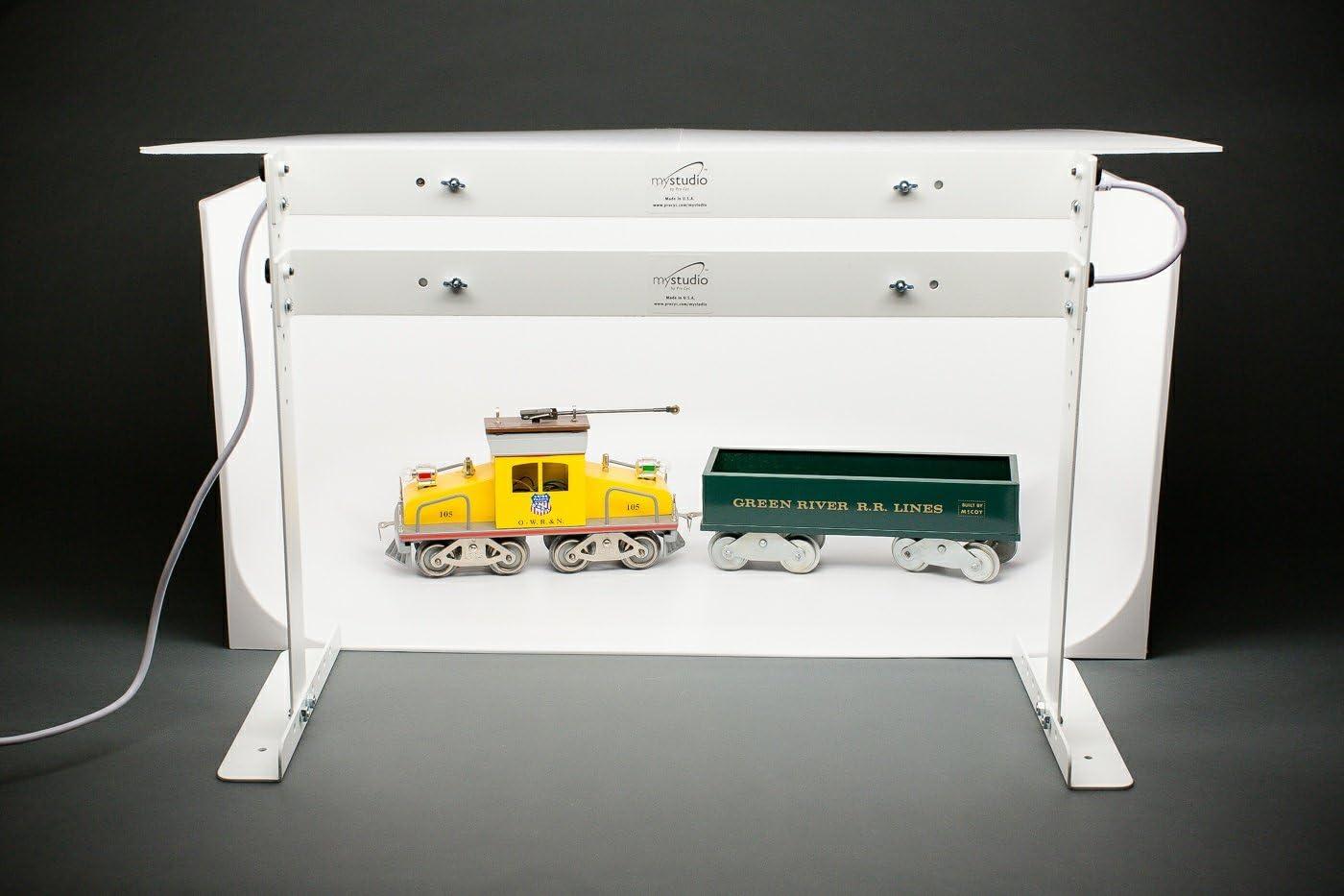 MyStudio MS20J Tabletop Photo Studio Lightbox with 5000K Lighting 12pc Jewelry Photography Tool Kit Bonus Tripod