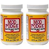 Mod Podge CS11301 Waterbase Sealer, Glue and Finish, 8 oz, Matte. Pack of 2