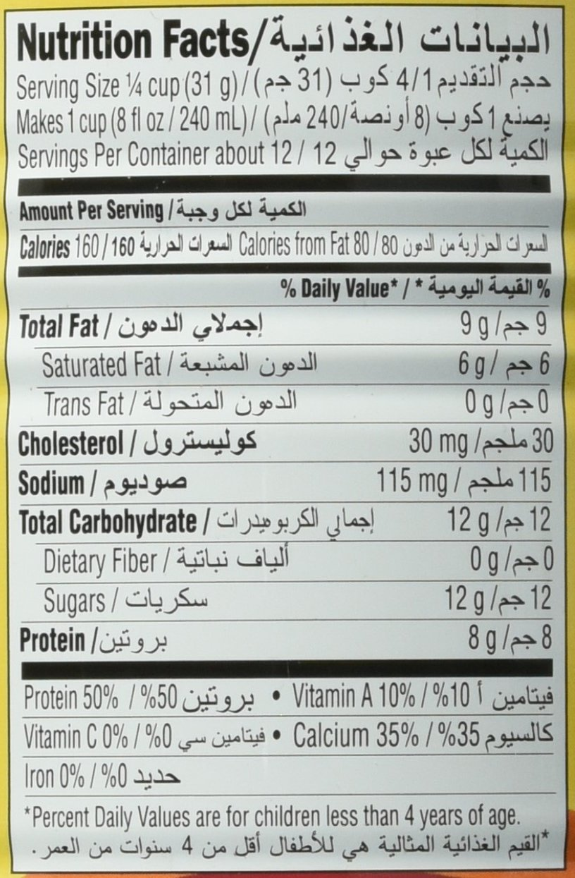 Nestle Nido Milk Powder, Imported, (400 gm), 14.1 Ounce Can: Amazon ...