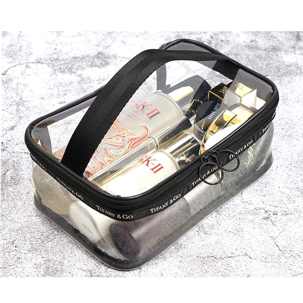 9c46e4fb57b9 Portable Clear Makeup TPU Bag,Waterproof Transparent Bath Toiletry Travel  Storage Pouch Cosmetic...