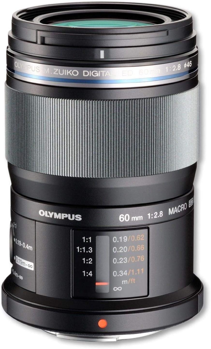 Olympus M.Zuiko - Objetivo digital ED 60 mm F2.8, zoom estándar, apto para todas las cámaras MFT (modelos olympus OM - D & Pen, serie G de Panasonic), negro