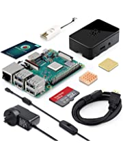 ABOX Raspberry Pi 3 Model B Plus (B+) Kit 32GB Class 10 SanDisk Micro SD Card, 5V 2.5A on/Off Switch Power Supply, 2 Pcs Heatsinks, Premium Case & HDMI Cable