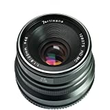 7artisans 25mm F1.8 Manual Focus Lens for Panasonic and Olympus Cameras Micro M4/3 Mount - Black