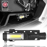 Hooke Road Outdoor Front Seat Flashlight Holder w/Flashlight (Batteries Not Included) for 2011-2018 Jeep JK Wrangler…