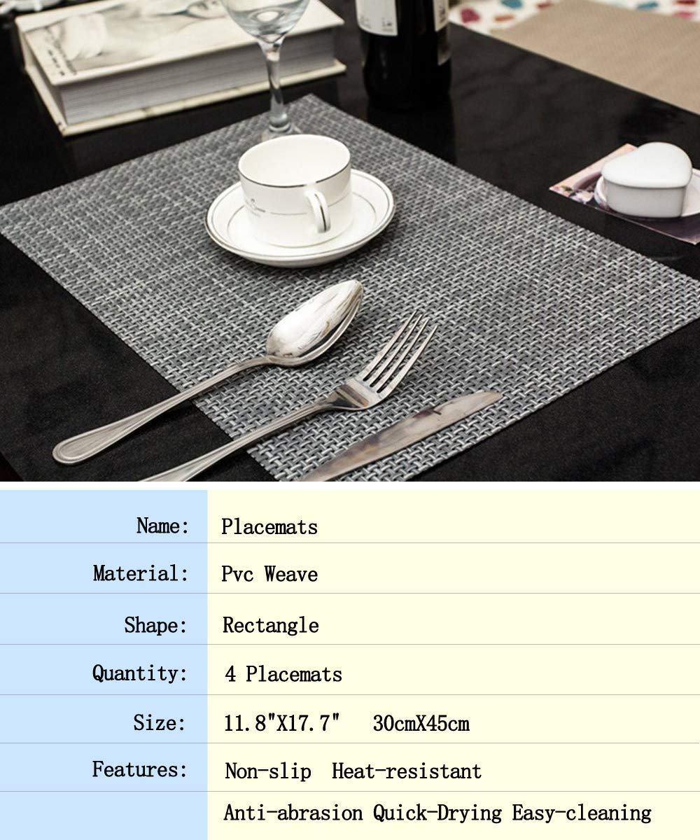 "Lot Of 6pc Kitchen Dish Drying Mats Mat 11.8/""x15.7/"" Free Shipping"