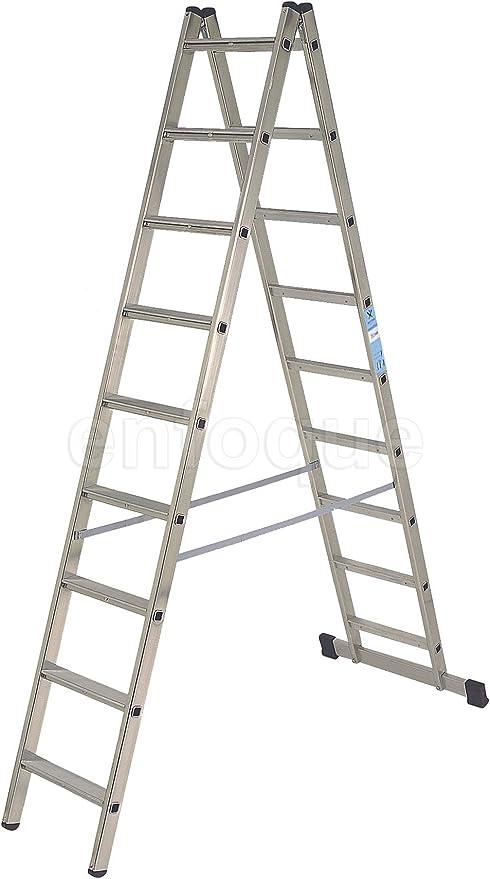 Escalera industrial de aluminio tijera doble acceso con base 2 x 6 peldaños sin asa serie scissor: Amazon.es: Hogar