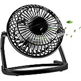 Ventilatori USB, KOROSTRO USB ventilatore da tavolo, ventilatore di plastica del desktop con ON/OFF, Portatile e silenzioso Raffreddamento per Computer Laptop PC(Nero)