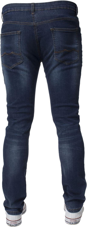 Kruze Designer Mens Skinny Fit Jeans Stretch Slim Jeans Pantaloni di jeans per tutta la vita gamba