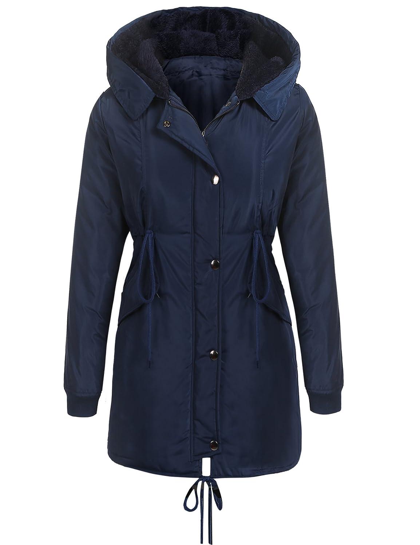 a174dd4f9 Amazon.com  Beyove Women Winter Coats Military Hooded Warm Faux Fur ...