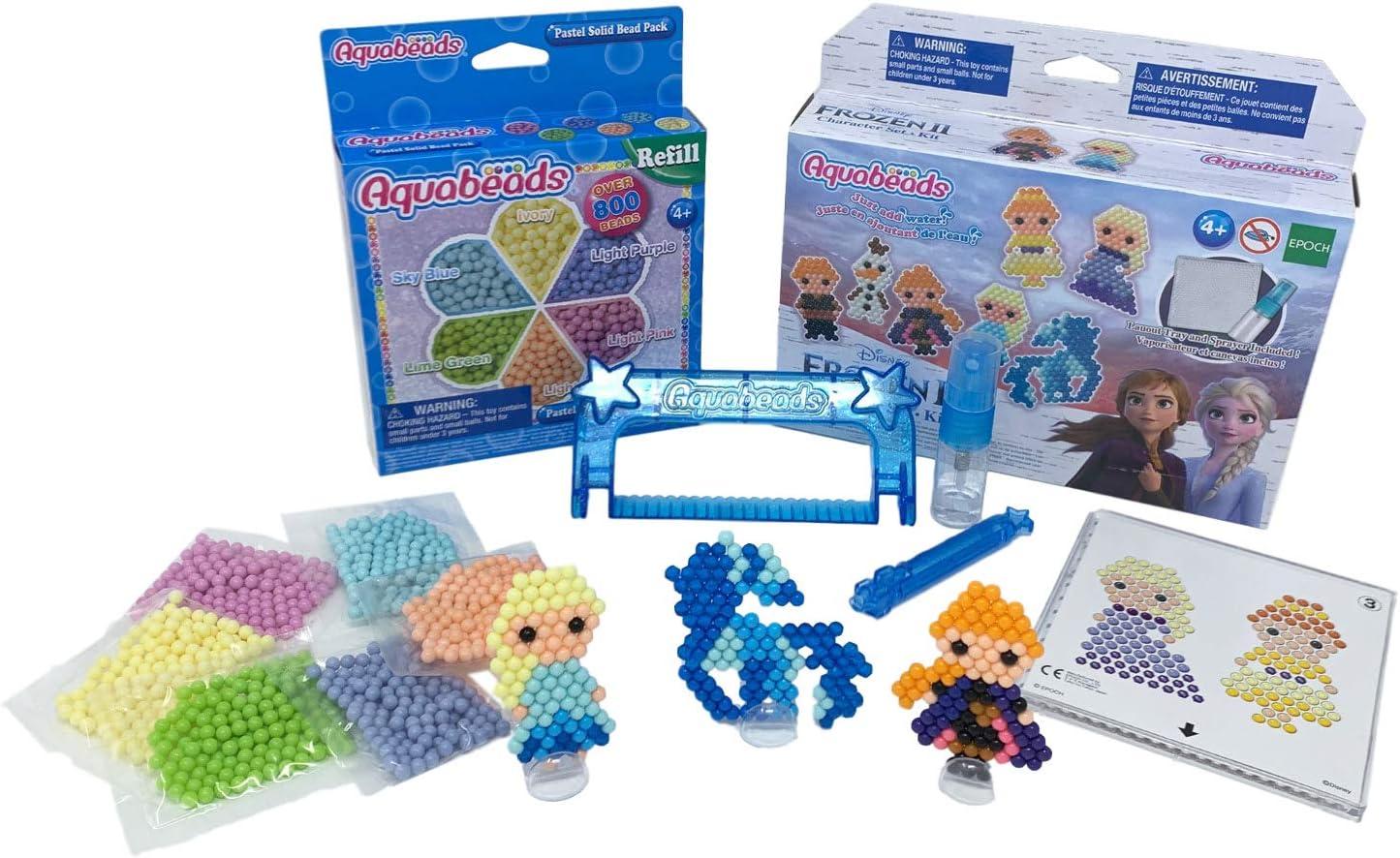 Aquabeads Frozen 2 personajes de Disney Kit/Set con Aqua Beads Pastel Refill, Aquabeads Pen y Aqua Water Beads Peeler.: Amazon.es: Hogar